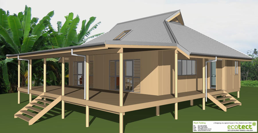 Aitutaki Holiday Home - Tropical Collection House Plans
