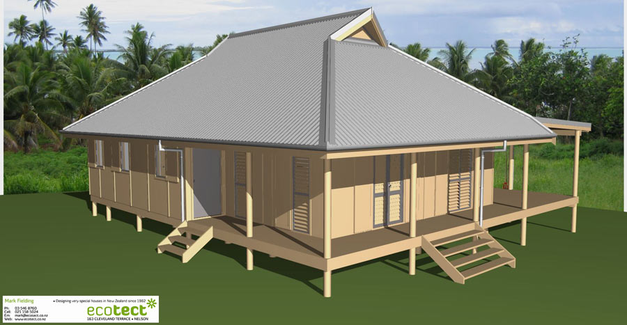 Aitutaki Bach - Tropical Collection Drawing Plans