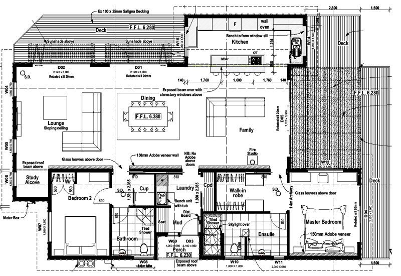 Ecotect buy download pakawau full set drawings for Purchase house plans