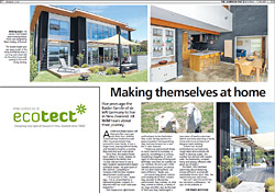 Making themselves at home article (Dominion Post) - Building an ecologically sustainable home