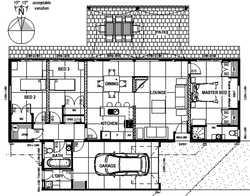 Solabode starter home 3br passive solar eco house for Building planning and drawing free pdf download
