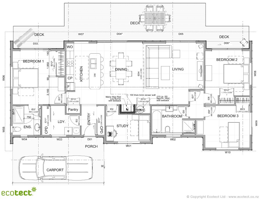Download Plans » Solabode Mk3 2 BR with Garage - Full Set Drawings