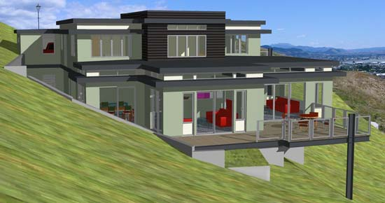 CAD render from North East