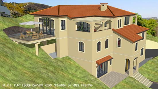 Punt house residential design mark fielding nelson for Birds eye view of house plans